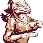 Stygimoloch Tea Time by Joshosaurus