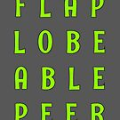 Flap Lobe Able Peer – Green by alannarwhitney