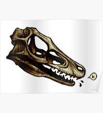 Velociraptor is a-okay with it - Talking Dinosaur Skulls Poster