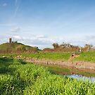 River Parrett and Burrow Mump by kernuak