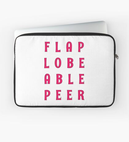 Flap Lobe Able Peer – Magenta Laptop Sleeve