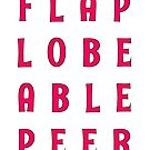 Flap Lobe Able Peer – Magenta by alannarwhitney
