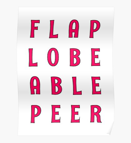 Flap Lobe Able Peer – Magenta Poster