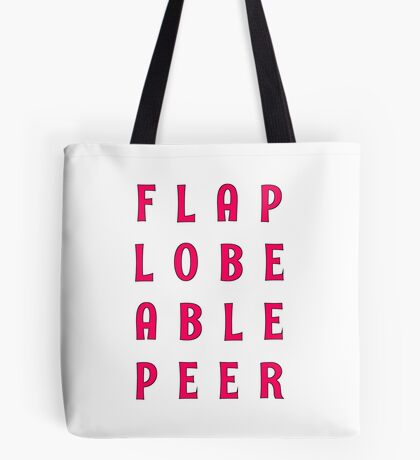 Flap Lobe Able Peer – Magenta Tote Bag