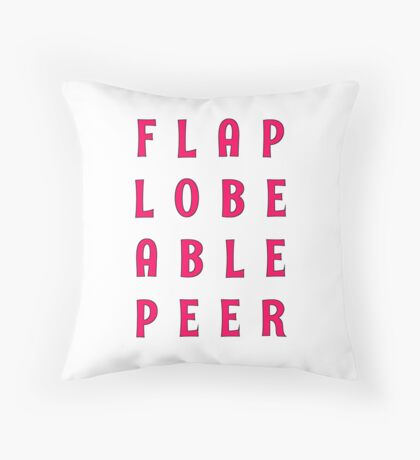Flap Lobe Able Peer – Magenta Throw Pillow