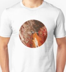 CR Art Studio, Abstract Expressionism Painting, Volcanic Eruption Unisex T-Shirt