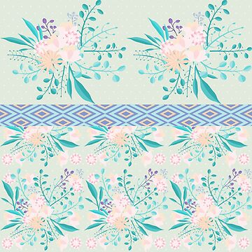 Shabby Chic Mint Floral by famenxt