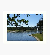 Caboolture Park & Lake, Queensland. Australia. Art Print