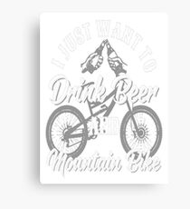 Drink Beer and Mountain Bike Canvas Print