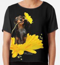 Me and my Flowers - Dachshund Chiffon Top