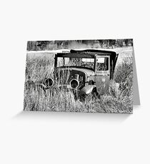 1930 Ford Model A Turon Sedan Greeting Card