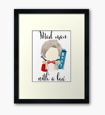 A mad man with a box · doctor who Framed Print