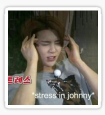 STRESSED JOHNNY  Sticker