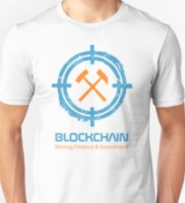 Blockchain Typography. Cryptocurrency lover Gift Unisex T-Shirt