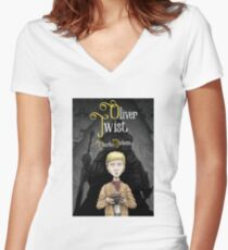 Charles Dickens' Oliver Twist Women's Fitted V-Neck T-Shirt