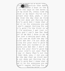 One Direction Narren Gold Texte iPhone-Hülle & Cover