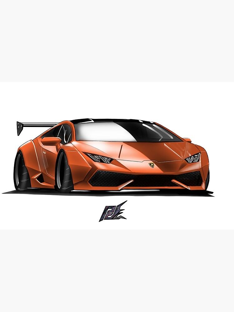 Naquash Design Lamborghini Huracan Orange And Black Top
