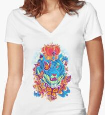 The Siberian Monarch Women's Fitted V-Neck T-Shirt