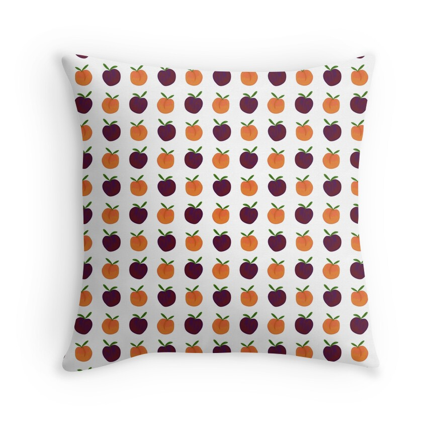 Mini Peachy Plummy Hand-Painted Orchard Fruits