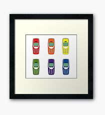 colours of the phone Framed Print