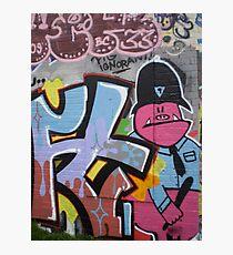 Old School Graffiti, Hackney Wick, London Photographic Print