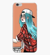 Blue Haired Girl Biker iPhone Case