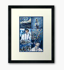 KIM TAEHYUNG V ART Framed Print