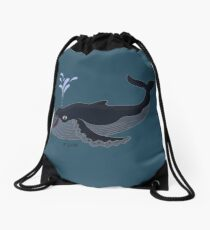 A Whale of a Surprise Drawstring Bag