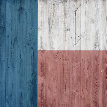 Minimalist Wooden Texas Flag by vanderdys
