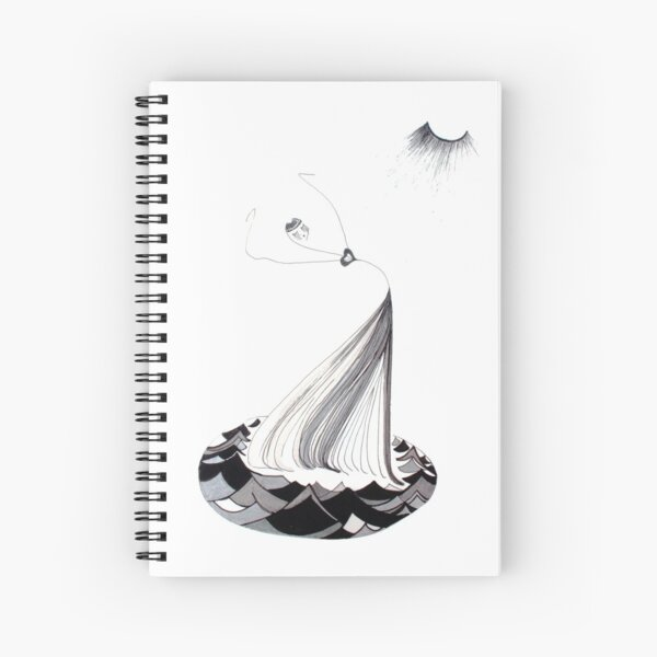 The Waves Her Dancefloor Spiral Notebook