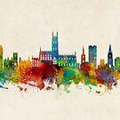 Gloucester England Skyline by Michael Tompsett