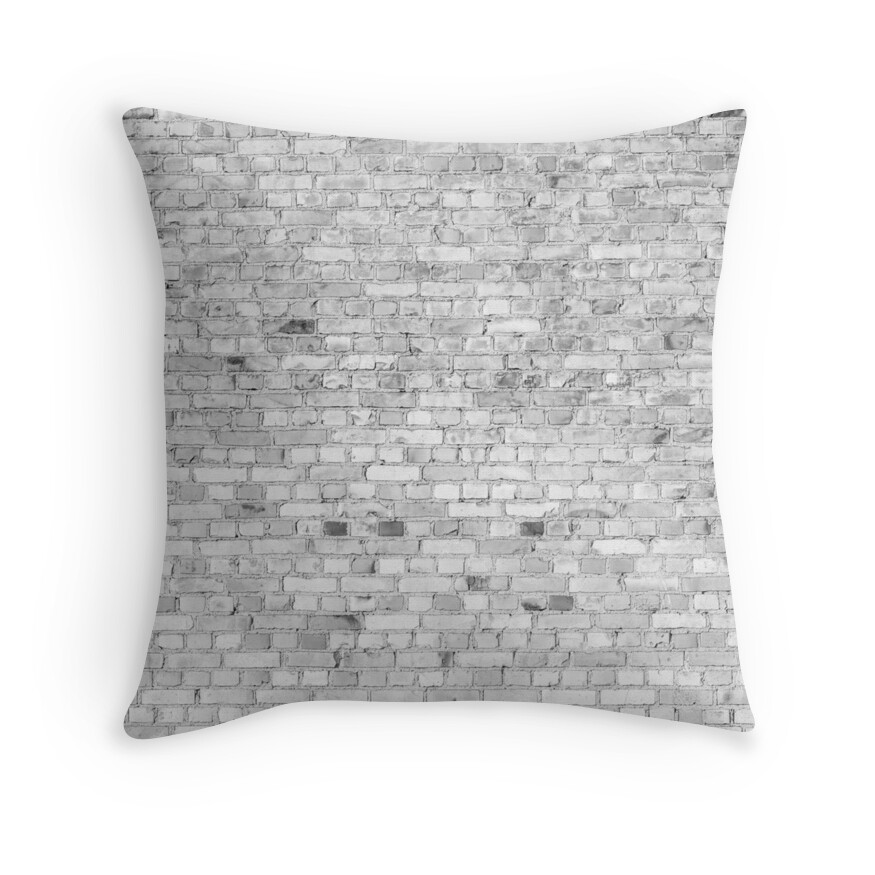 White Washed Brick Wall - Light White and Grey Wash Stone Brick