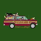 Year of the Dog - Waggies in a Waggy by ArtwithDog