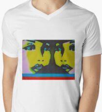 TWIN FACES Men's V-Neck T-Shirt