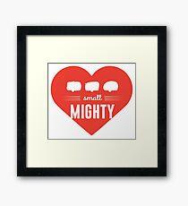 small MIGHTY camper/caravan love Framed Print