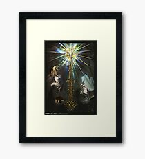 Light and L - Death Note Framed Print