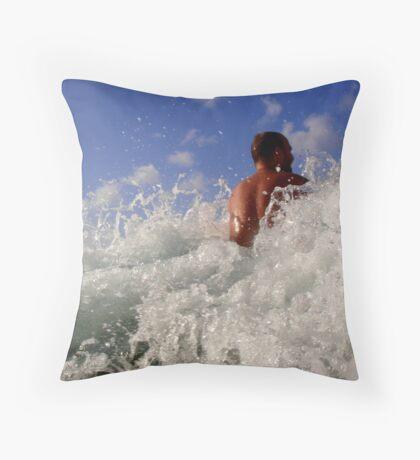 White Water Smile Throw Pillow