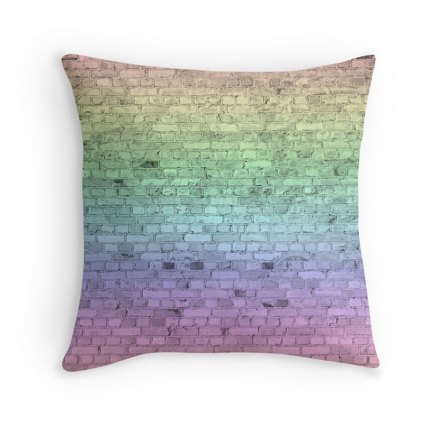 Light Pastel Rainbow Color Brick Wall