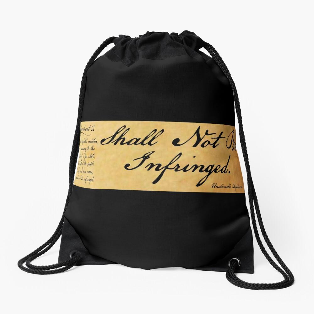 Shall Not Be Infringed Drawstring Bag Front