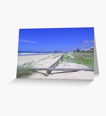 Mermaid Beach ,My special spot Greeting Card