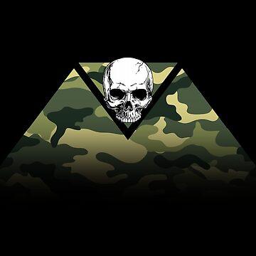 Camo Tri-Skull by PYHC