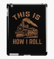 Funny Train Watcher Apparel iPad Case/Skin