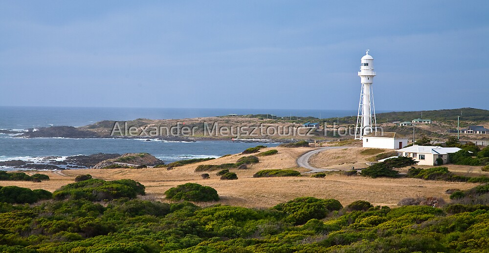 Currie Lighthouse and Harbour by Alexander Meysztowicz-Howen