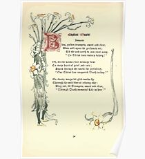 The Old Garden and Other Verses by Margaret Deland and Wade Campbell, Illustrated by Walter Crane 1894 208 - Easter Music Poster