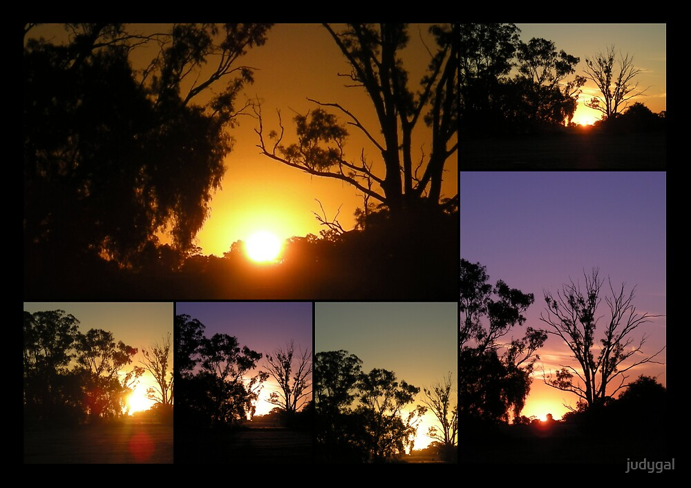 Marong Sunset Collage by judygal