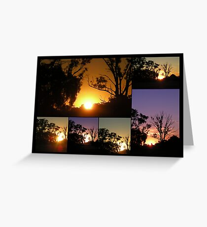Marong Sunset Collage Greeting Card