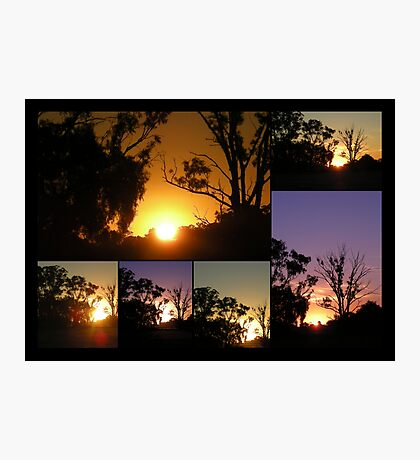 Marong Sunset Collage Photographic Print