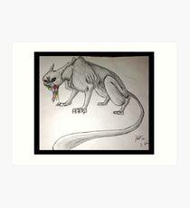 Psycho Cat 2 Art Print