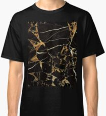 Black And Gold Marble - Cool Elegant Glamour Design Classic T-Shirt