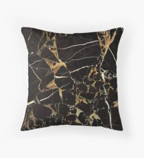Black And Gold Marble - Cool Elegant Glamour Design Floor Pillow